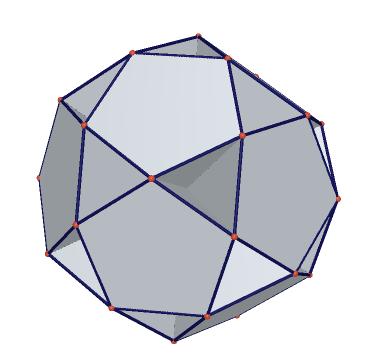 截半立方体(阴阳模型) 三角形正方形 截半二十面体(阴阳模型) 五边形